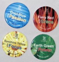 "Stonewear Bright Multicolor Green Yellow Blue Red Ad Coasters 3 1/2""  Lo... - $7.61"