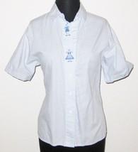 "Wallman Woman Blue Stripe 40"" Bust Short Sleeve... - $7.61"