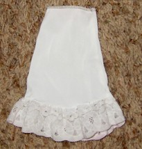 "White 5 1/2"" Long Doll Cloths Nylon Underwear SLIP With Lace - $9.05"