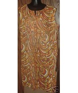 Vtg 60s Hippie Colorful psychedelic MOD Dress P... - $74.99