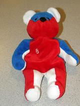 Salvino's Bamm Beano's Beanie Babies NASCAR #8 Ripken Jr.Teddy Bear Red & Blue - $8.79