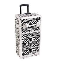 Sunrise Outdoor Travel Zebra Trolley Makeup Case - I3462 - $167.94