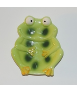 Cute Froggie Soap Dish Ceramic Green Frog - $4.00