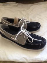 Boys Blue And Gray Suede Timberland Boat Shoes Size 5 - $36.62