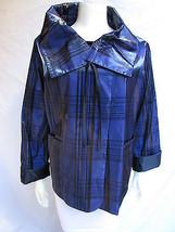Giorgio Armani Women Blue Black Fashion Jacket Water Repellent Winter Co... - $2,939.99
