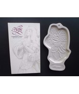 "Longaberger Pottery Angel of HOPE 8 1/2"" large Cookie Mold Ornament 1994... - $29.35"