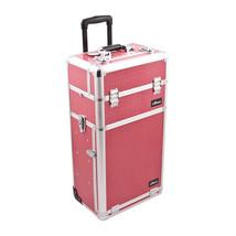 Sunrise Outdoor Travel Hot Pink Crocodile Trolley Makeup Case - I3763 - $237.45