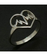 Emergency Heart Beat Silver Ring for Nurse Graduation Gift - $39.00