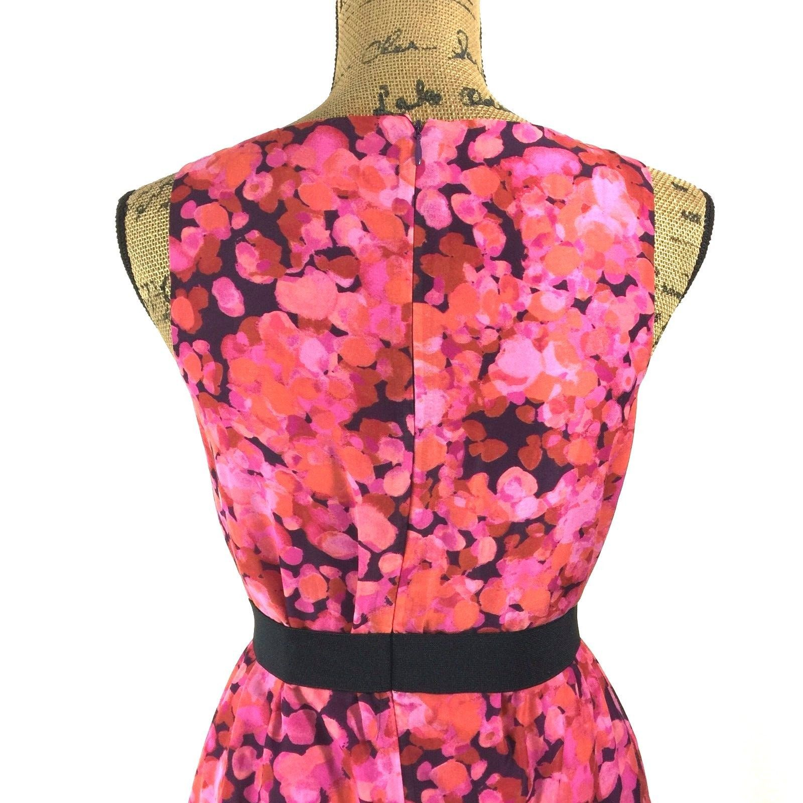 SET Ann Taylor LOFT Dress J.Crew Clare Cardigan Sweater Pink Purple Black 2 S LN image 6