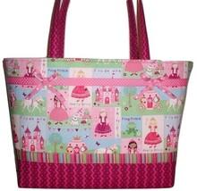 Fairy Princess Diaper Bag, Princess Theme Diaper Bag, Pink Princess Tote... - $93.00