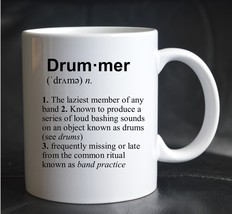PRINTED MUG DEFINITION DRUMMER Music Band Joke Funny Present Gift Cup Te... - $13.03
