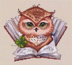 My Favorite Book Precious Owlets cross stitch chart Lena Lawson Needle Arts - $10.80