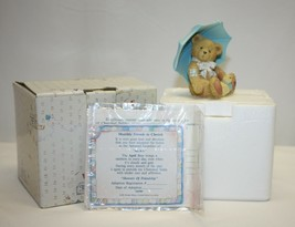 "Cherished Teddies ""Showers of Friendship"" April Bear 914789 - $5.93"