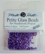 Mill Hill Petite Glass Beads for Needlework Projects 42101 Purple - $1.25