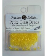 Mill Hill Petite Glass Beads for Needlework Projects 42102 Lemon - $1.25