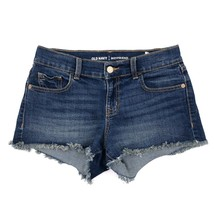 Old Navy Jean Shorts Size 0 Dark Blue Denim Cutoff Boyfriend Fit Womens - $15.84