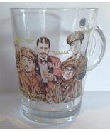 BLACKADDER GLASS COFFEE MUG Rowan Atkinson, Stephen Fry BRITISH TELEVISI... - $22.00