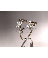 Enagagement ring,14k rose gold diamond leaf and vine engagement ring, we... - $675.00