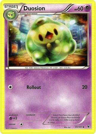 Duosion 51/101 Uncommon Noble Victories Pokemon Card