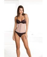 BRAZILIAN CORSET, WAIST CINCHER, DIVA FIT By SQUEEM, BEIGE LATEX - $40.99