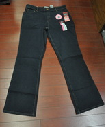 Womens Misses Signature by Levi Strauss At Waist Bootcut Jeans Size 16 Long  - $3.95