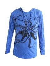 men hoodie long sleeve animal hood 100% cotton Octopus Sea Ocean Nature ... - $25.99