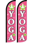 Yoga (Pink) Windless Standard Size Polyester Swooper Flag Sign Pk of 2 - $31.99