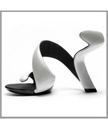 Pearl White Padded Mojito Swirl Wrap Open Toe Sole-less High Heel Pumps - £141.98 GBP