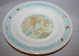 Wedgwood Peter Rabbit  Frederic Warne&co Happy Birthday Plate 1996 England - $26.10