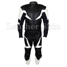 Leather Skin Black Motorcycle Biker Racing Premium Genuine Real Leather Jacket - $299.99