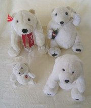 Stuffed Bears, Collectible Set 4 Coca Cola Bears, Various Years - $22.00