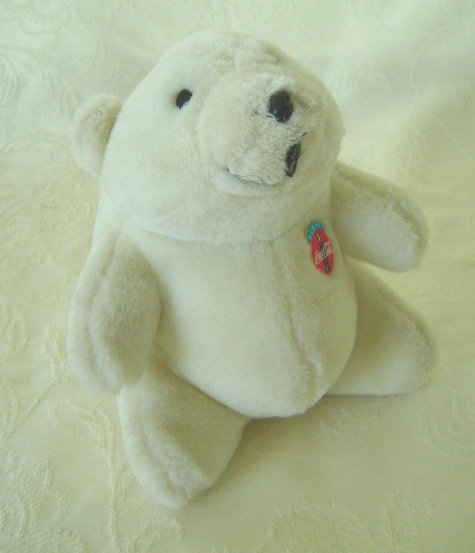 Stuffed Bears, Collectible Set 4 Coca Cola Bears, Various Years