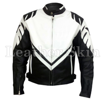 Black Motorcycle Biker Racing Premium Genuine Real Pure Leather Jacket - $179.99