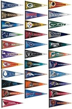 "2 NFL NATIONAL FOOTBALL LEAGUE TEAM 100% FELT PENNANT *BIG* 12""X 30"" SHI... - $201,43 MXN"