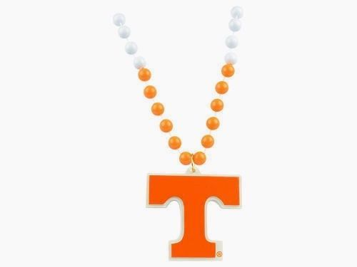 TENNESSEE VOLUNTEERS MARDI GRAS BEADS with MEDALLION NECKLACE NCAA