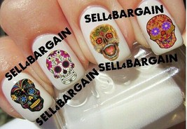 Star Quality《Sugar Skull Day Of Dead #4》Tattoo Nail Art Design Decals《Non Toxic - $16.99