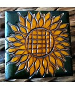 Small Hand Carved Sunflower Jewelery Box Made In Poland one of a kind ar... - $9.90