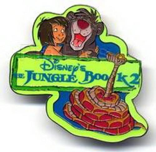 Jungle Book 2 - Mowgli Baloo  Kaa UK Disney  Authentic  Pin/Pins