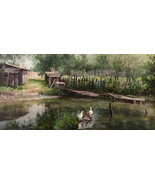 "Landscape with Ducks, a 24"" high reproduction ... - $349.00"