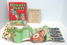 1941 Whitman Boxed Pin Tail on the Donkey Game Colorful Fun Never cut  T80 - $19.80