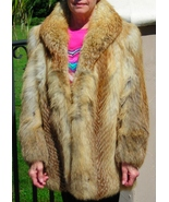 Red Fox Fur Coat Jacket Stroller Pre-owned Womens Size Small - $460.00