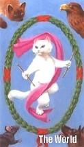 The World Cat Tarot Magnet - $8.99