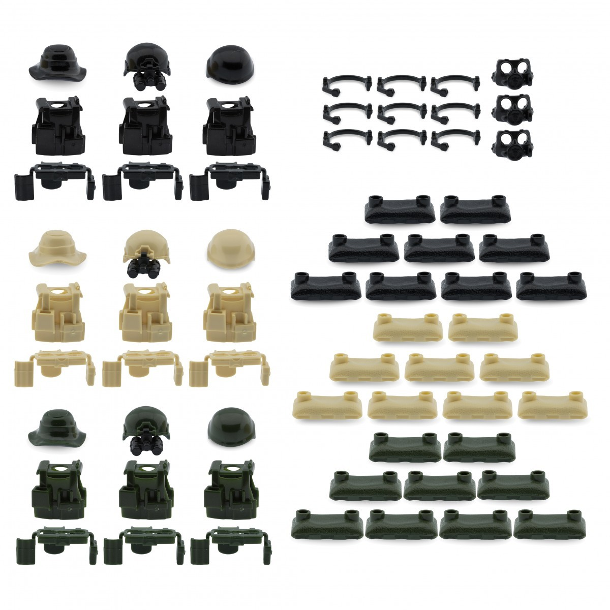Stom military accessories armor sandbags compatible for lego brickarms minifigures minifigs pack