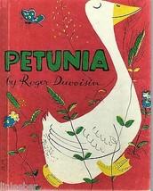 PETUNIA BY ROGER DUVOISIN,1950 VINTAGE HC, W.R.C.BK.C - $14.97