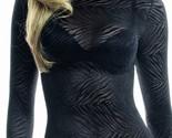 See Through Shirt High Neck - Zebra Animal Print - £27.75 GBP