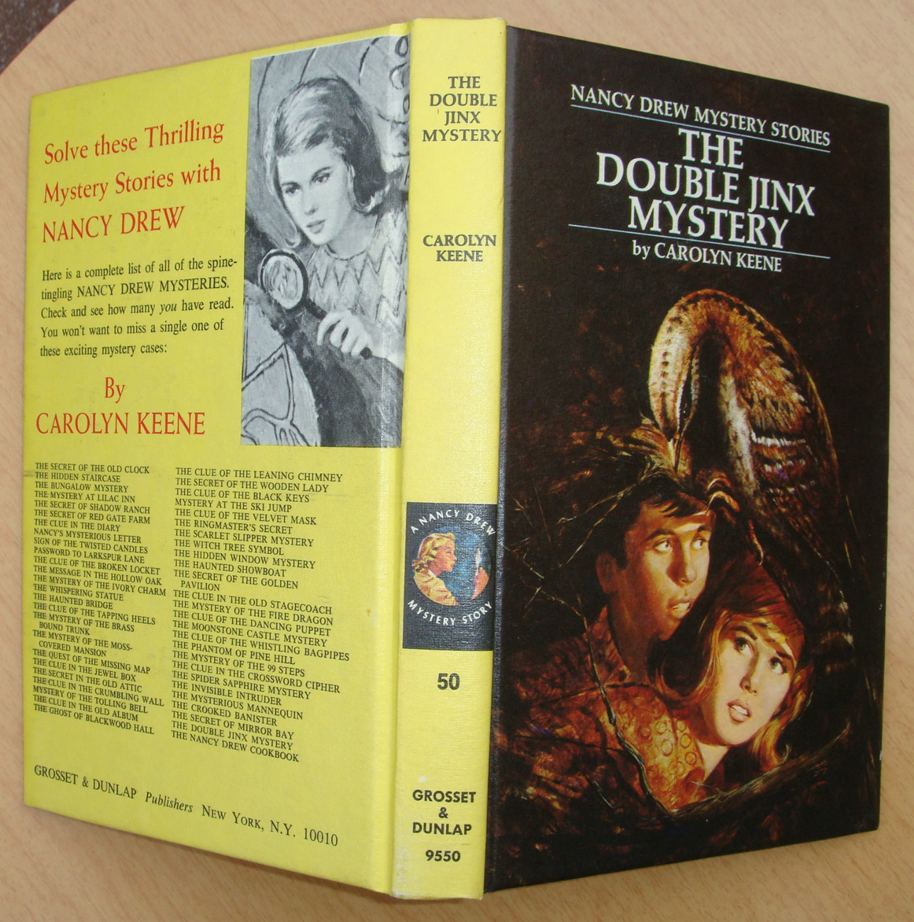 Primary image for Nancy Drew 50 The Double Jinx Mystery 1st First Edition 1973A-1 matte PC