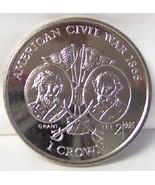 IOM AMERICAN CIVIL WAR GRANT & LEE 1999 CROWN CUNI COIN UNC - $22.99