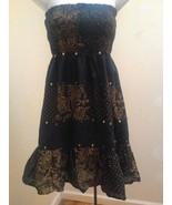 Victorias Secret Moda International S Dress Convertible Skirt Black Gold... - $24.48