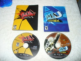 Persona 4: Arena And Ultimax Disc BUNDLE PS3 (Sony PlayStation 3, 2014) - $64.35