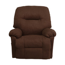 Contemporary Calcutta Chocolate Microfiber Chaise Rocker Recliner - $334.99
